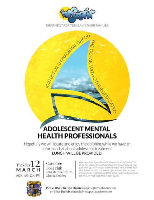 Adolescent Mental Health Professionals Lunch