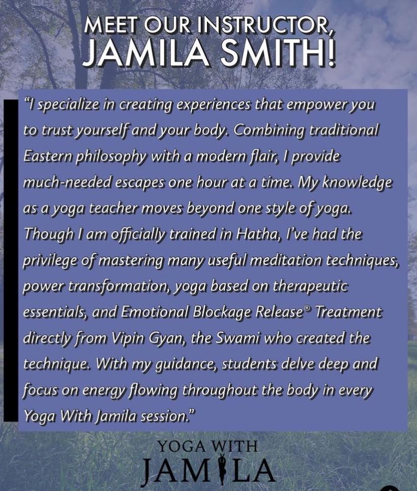 Yoga with Jamila - description